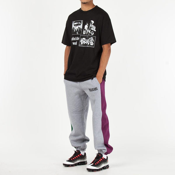 Pleasures Split Colour Sweatpants / Heather Grey
