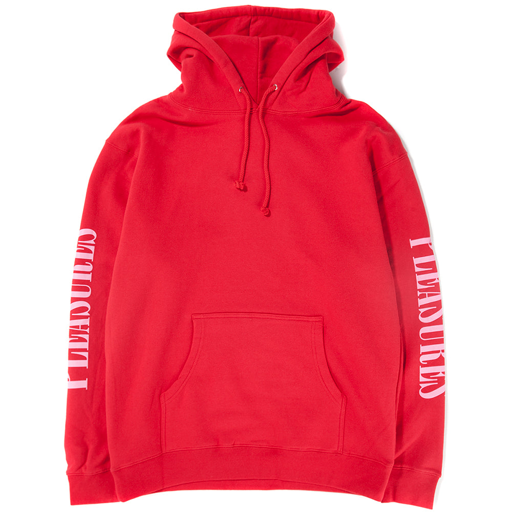 Style code P18S102025. Pleasures Mark Of The Beast Pullover Hoodie / Red