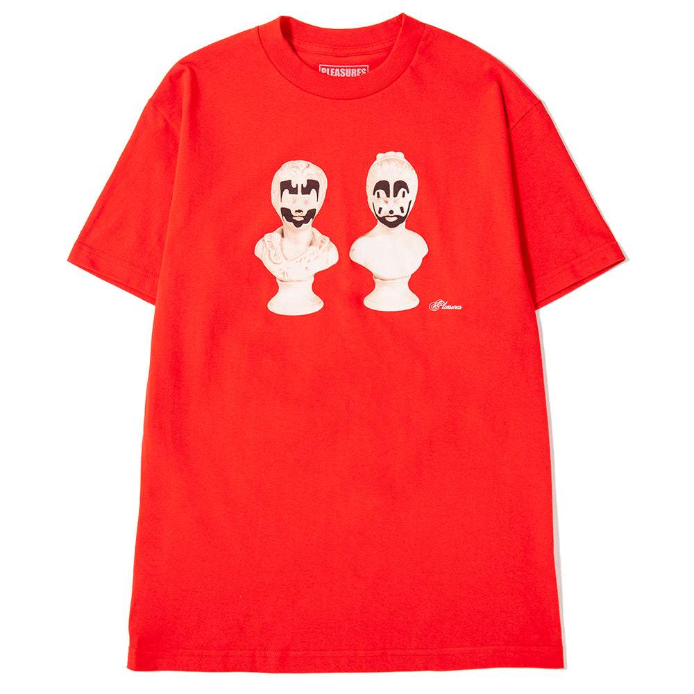 Pleasures Bust T-Shirt / Red - Deadstock.ca