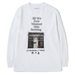 Pleasures Nothing Long Sleeve T-Shirt / White - Deadstock.ca