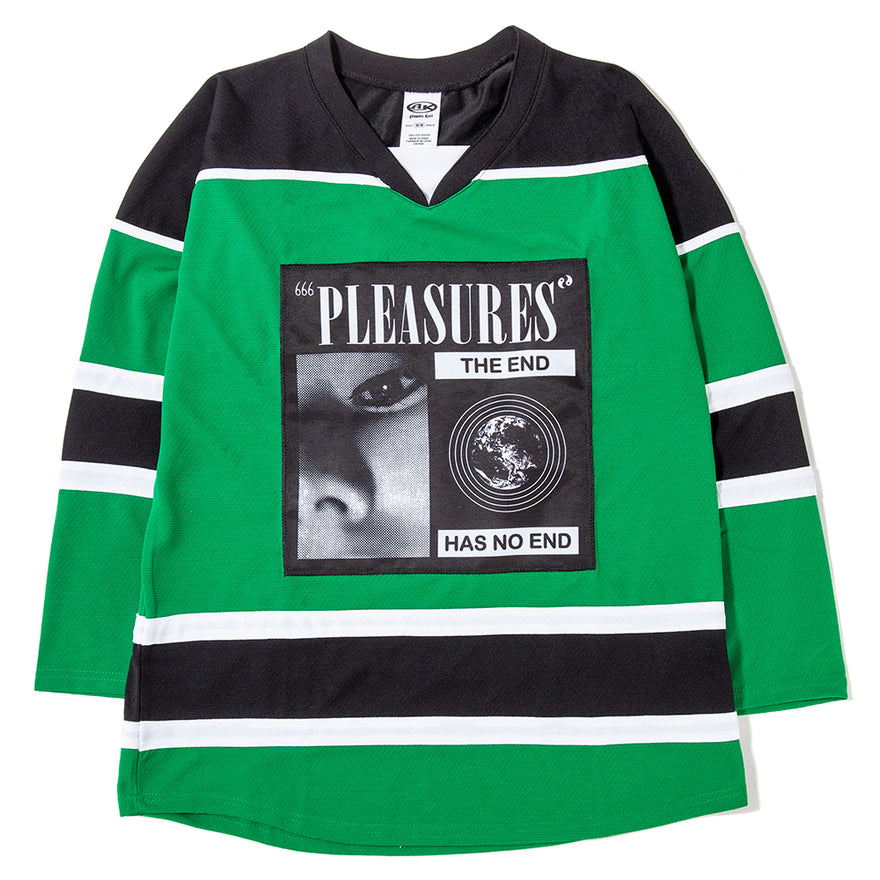 the best attitude ada05 325ed Pleasures No End Hockey Jersey Black / Green