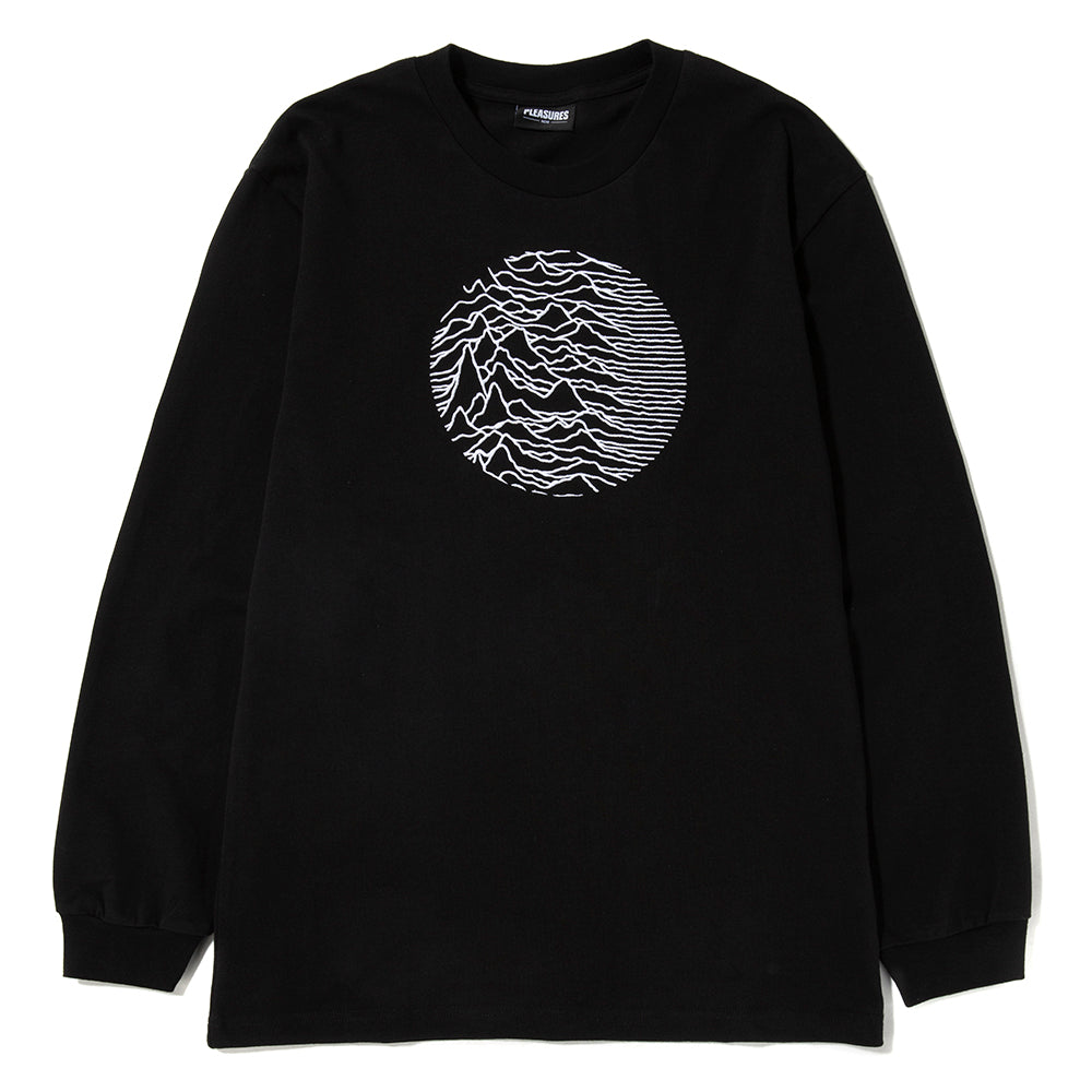 Pleasures x Joy Division Lost Control Embroidered Premium Long Sleeve T-shirt / Black