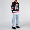 Pleasures Ribs Hockey Jersey / Black - Deadstock.ca