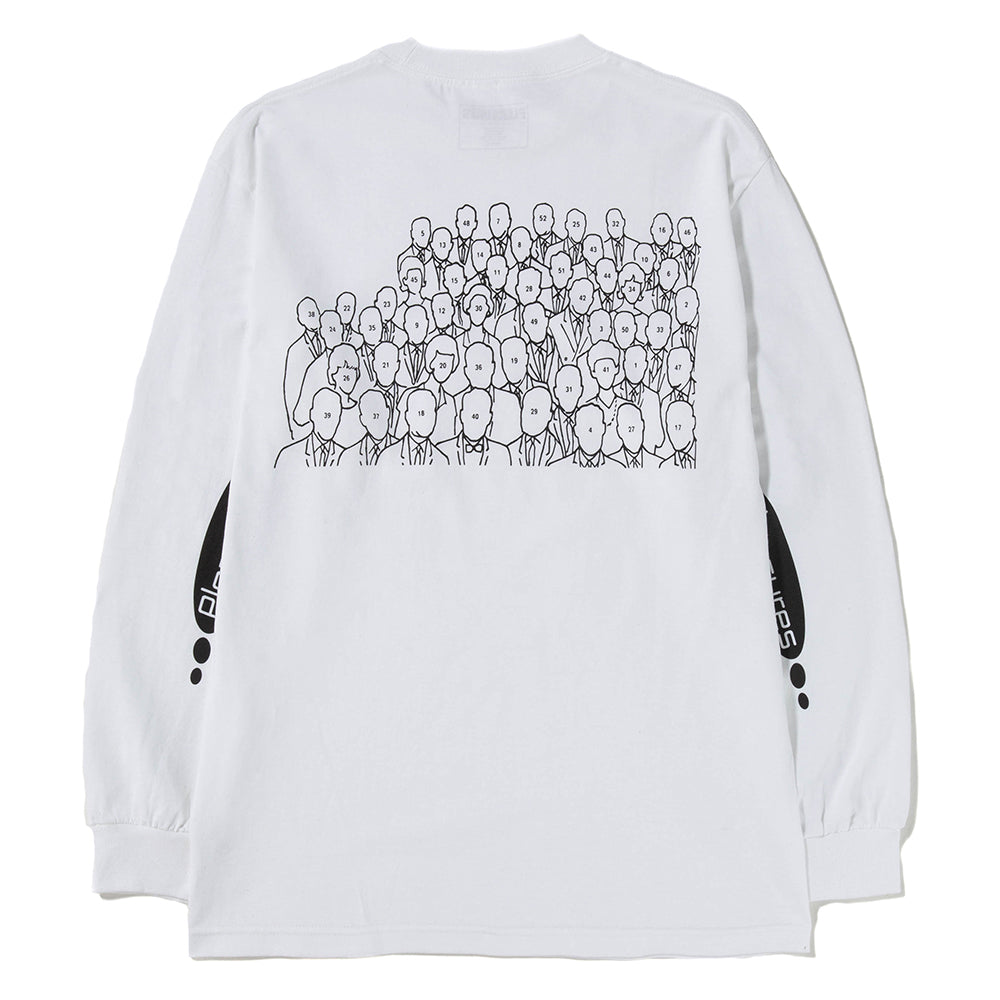 Pleasures Too Much Long Sleeve T-shirt / White