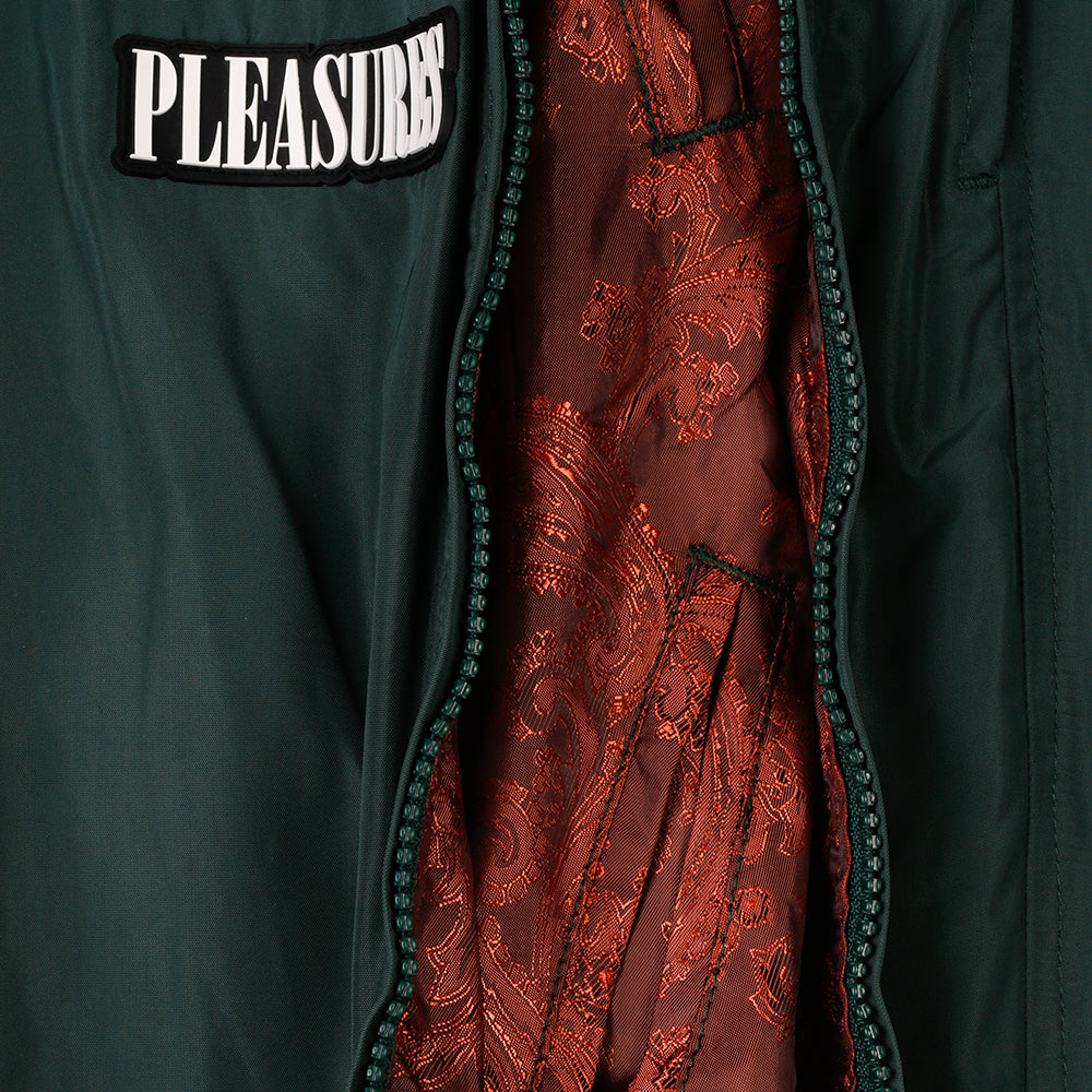 Pleasures Blast Side Zip Track Pant / Forest Green