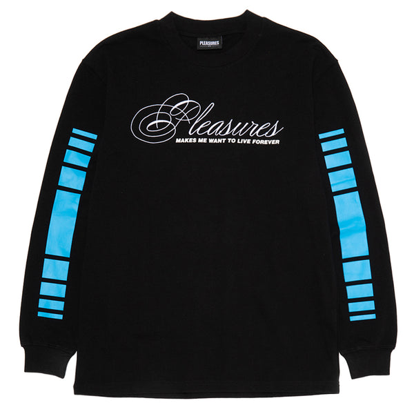 Pleasures Live Forever Premium Long Sleeve T-Shirt / Black