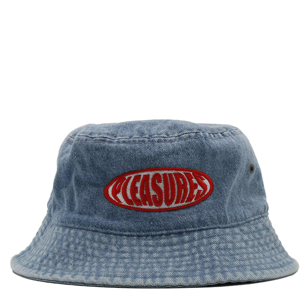 Pleasures Bubble Logo Bucket Hat / Washed Denim
