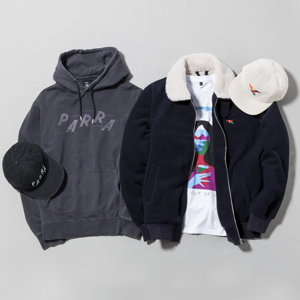 BY PARRA PARRA RACING PULLOVER HOODIE / OVERDYED BLACK