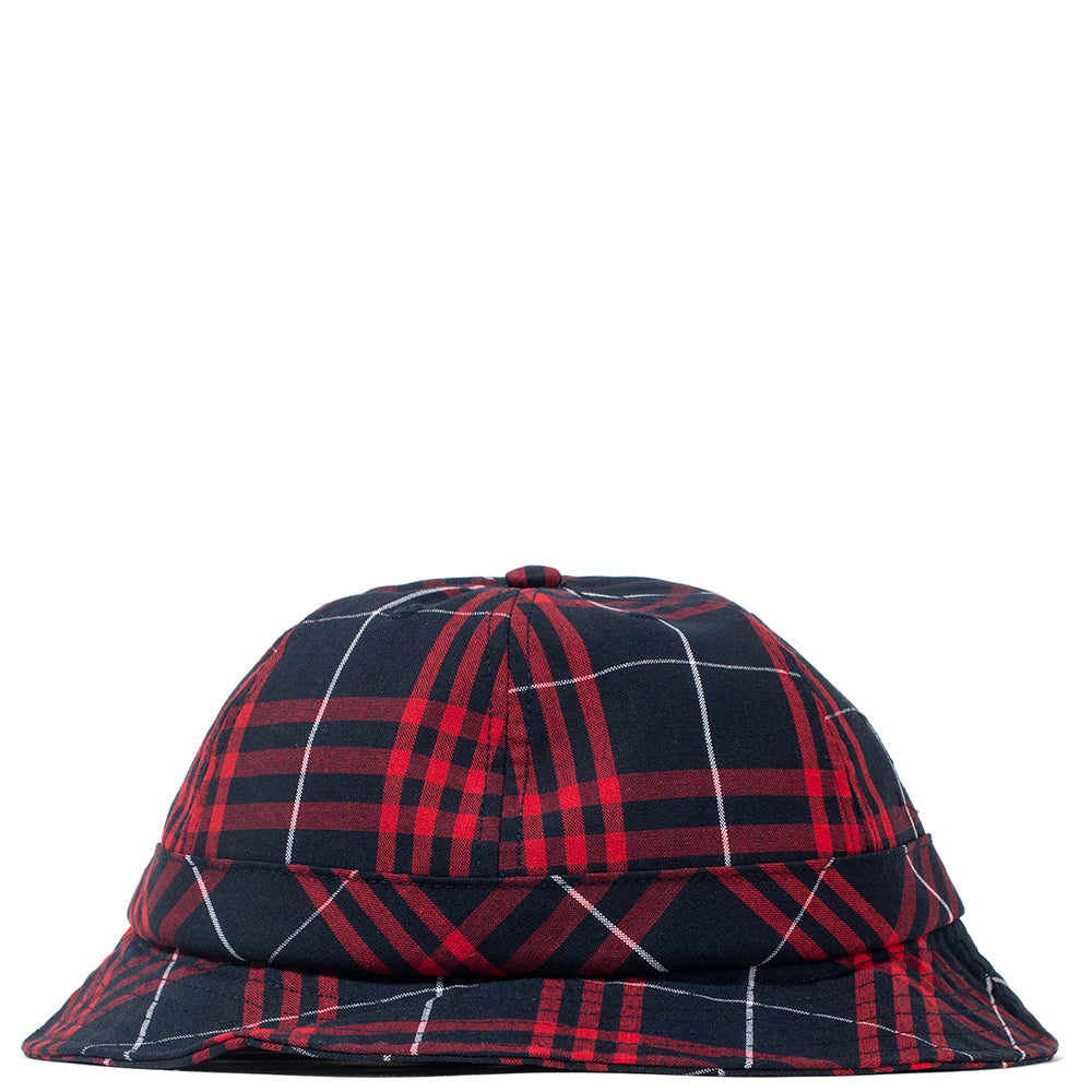 Pop Trading Company Bell Hat Red / Navy Plaid - Deadstock.ca