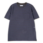 Pop Trading Company Casper Stripe Pocket T-shirt Black / Grape - Deadstock.ca