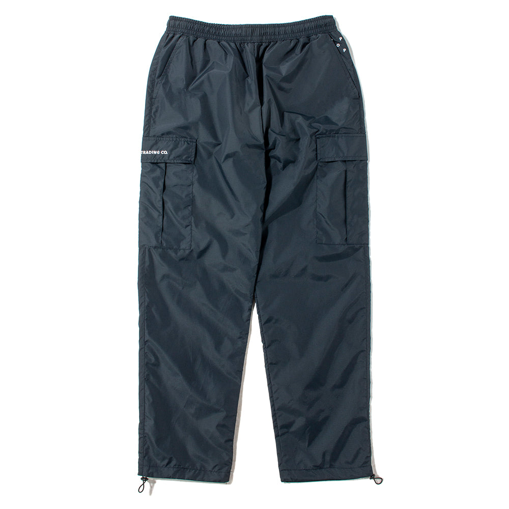 Pop Trading Company Cargo Ripstop Track Pant / Navy - Deadstock.ca