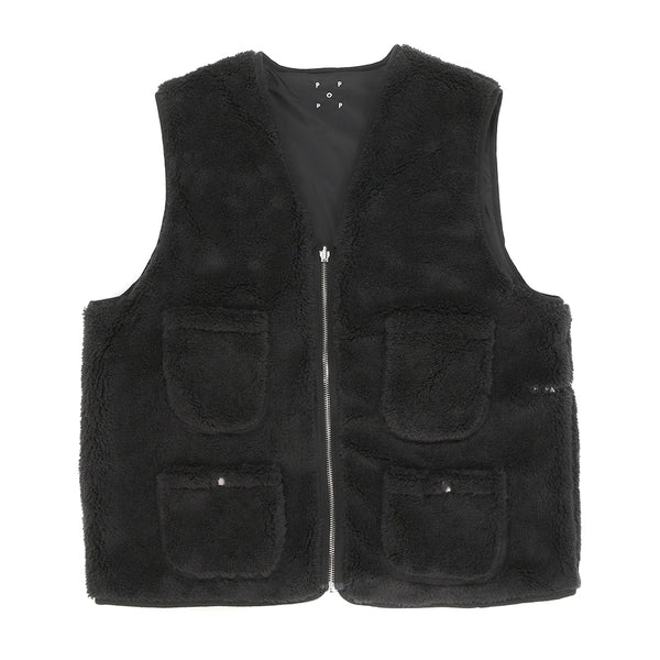 Pop Trading Company Harold Reversible Vest / Anthracite