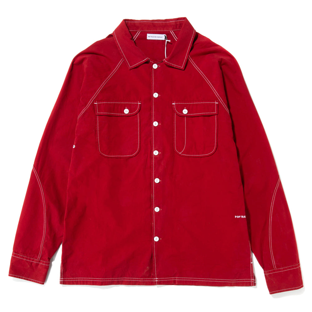 Pop Trading Company Herman Shirt / Pepper Red
