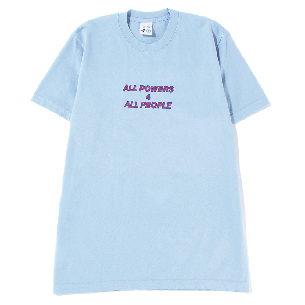 Powers All Power For T-shirt / Blue