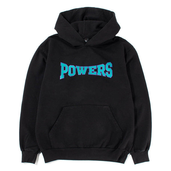 Powers D5 Arch Logo Pullover Hoodie / Black - Deadstock.ca
