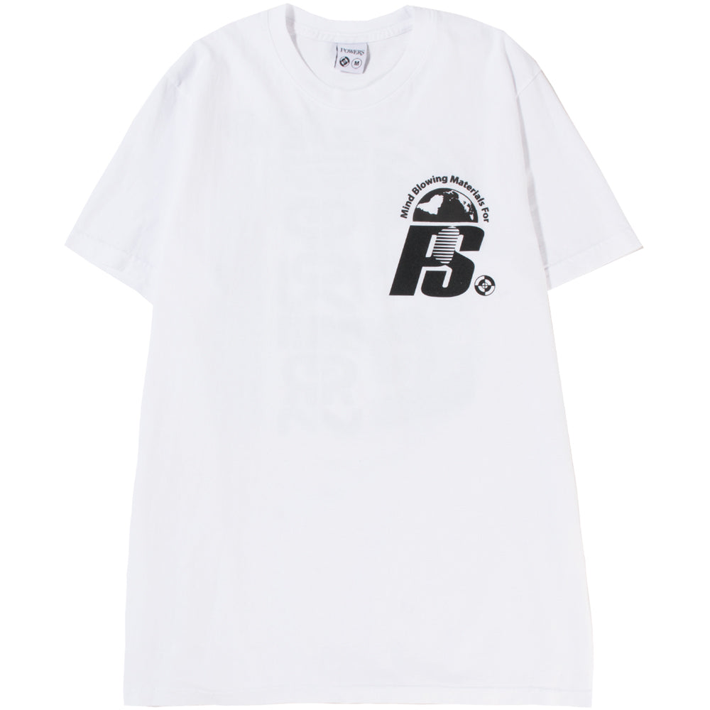 Powers Stacked Lockup T-shirt / White