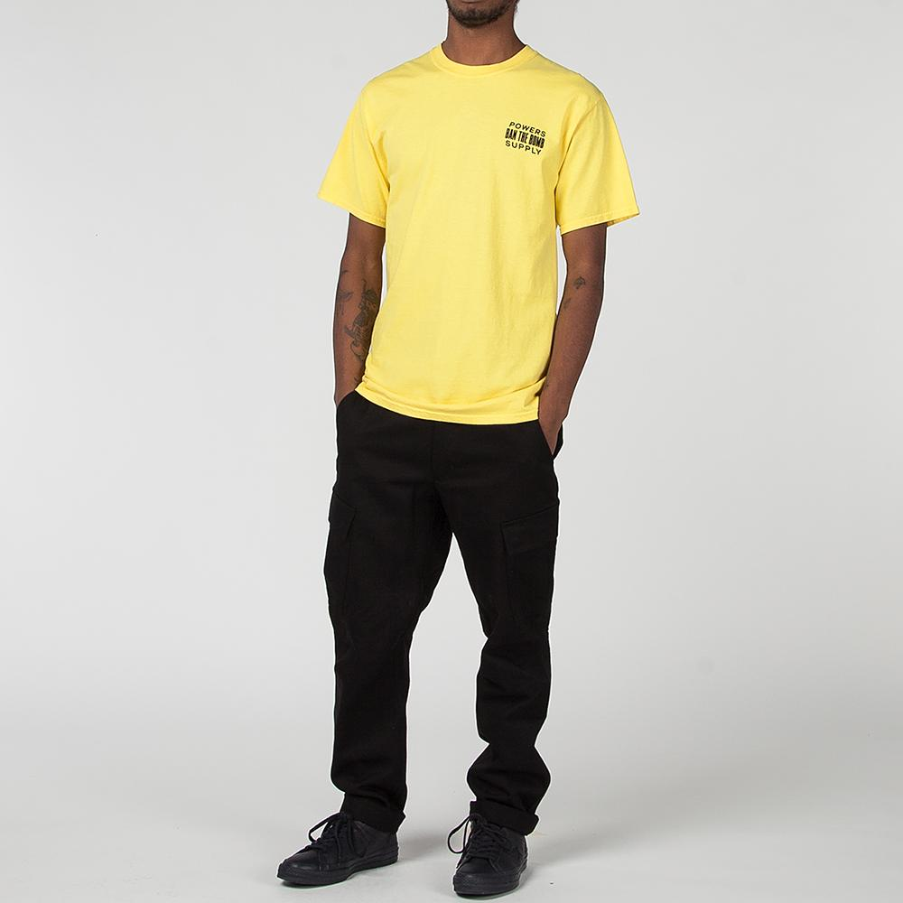 POWERS SUPPLY BAN THE BOMB T-SHIRT / MUSTARD