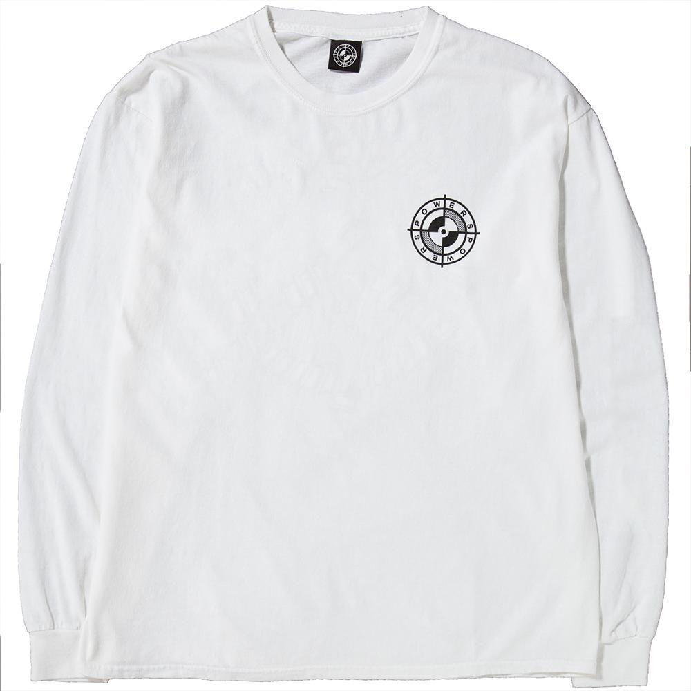 Powers Supply Screw Long Sleeve T-Shirt / White