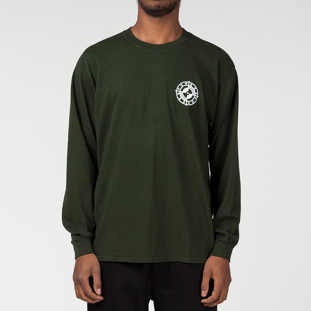 POWERS SUPPLY SCREW LONG SLEEVE T-SHIRT / GREEN