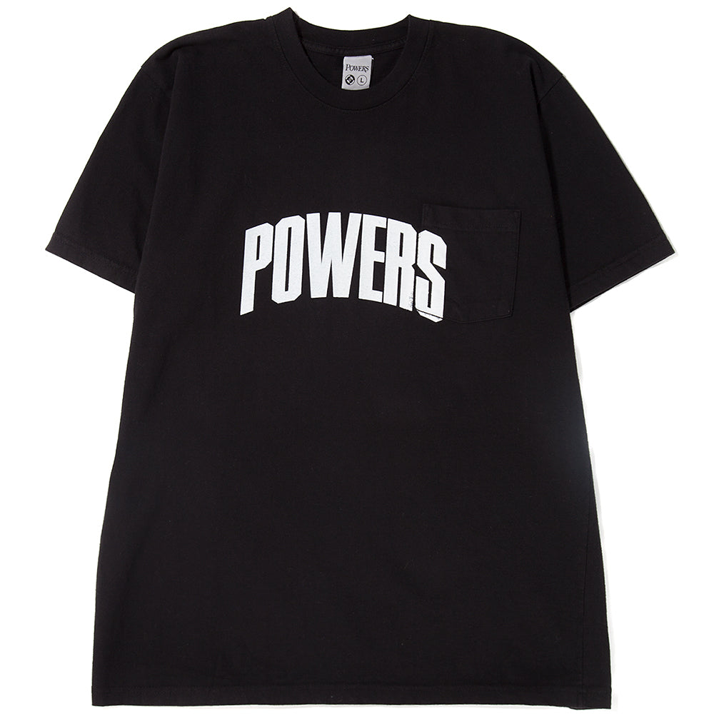 Style code PSSS1814. Powers Kilroy Pocket T-shirt / Black