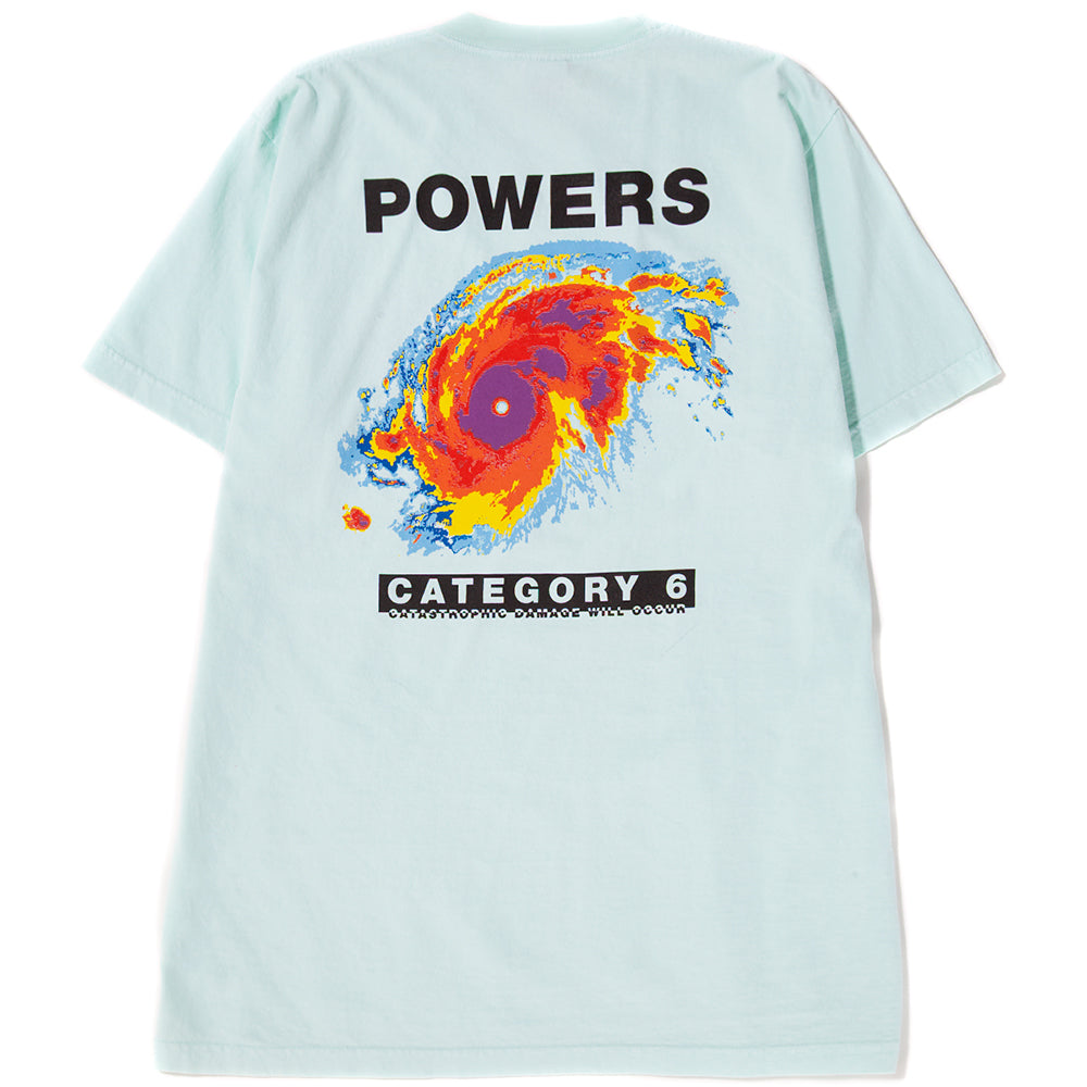 Style code PSSS1816. Powers Hurricane T-shirt / Light Mint