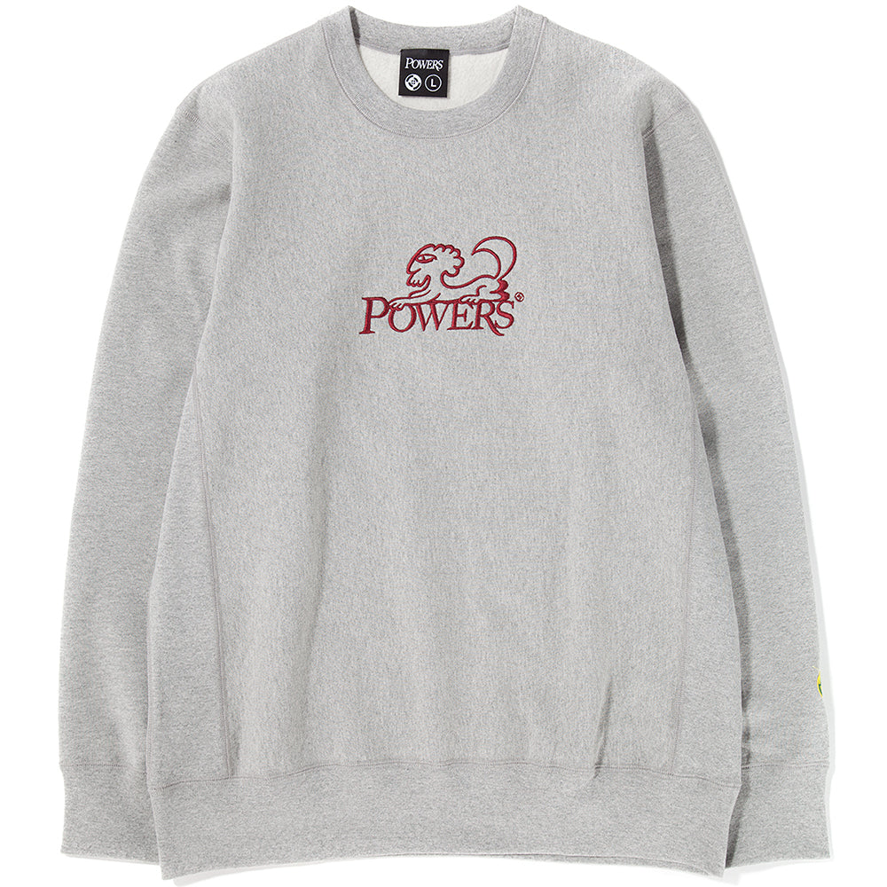Powers Sphinx Crewneck / Heather Grey - Deadstock.ca