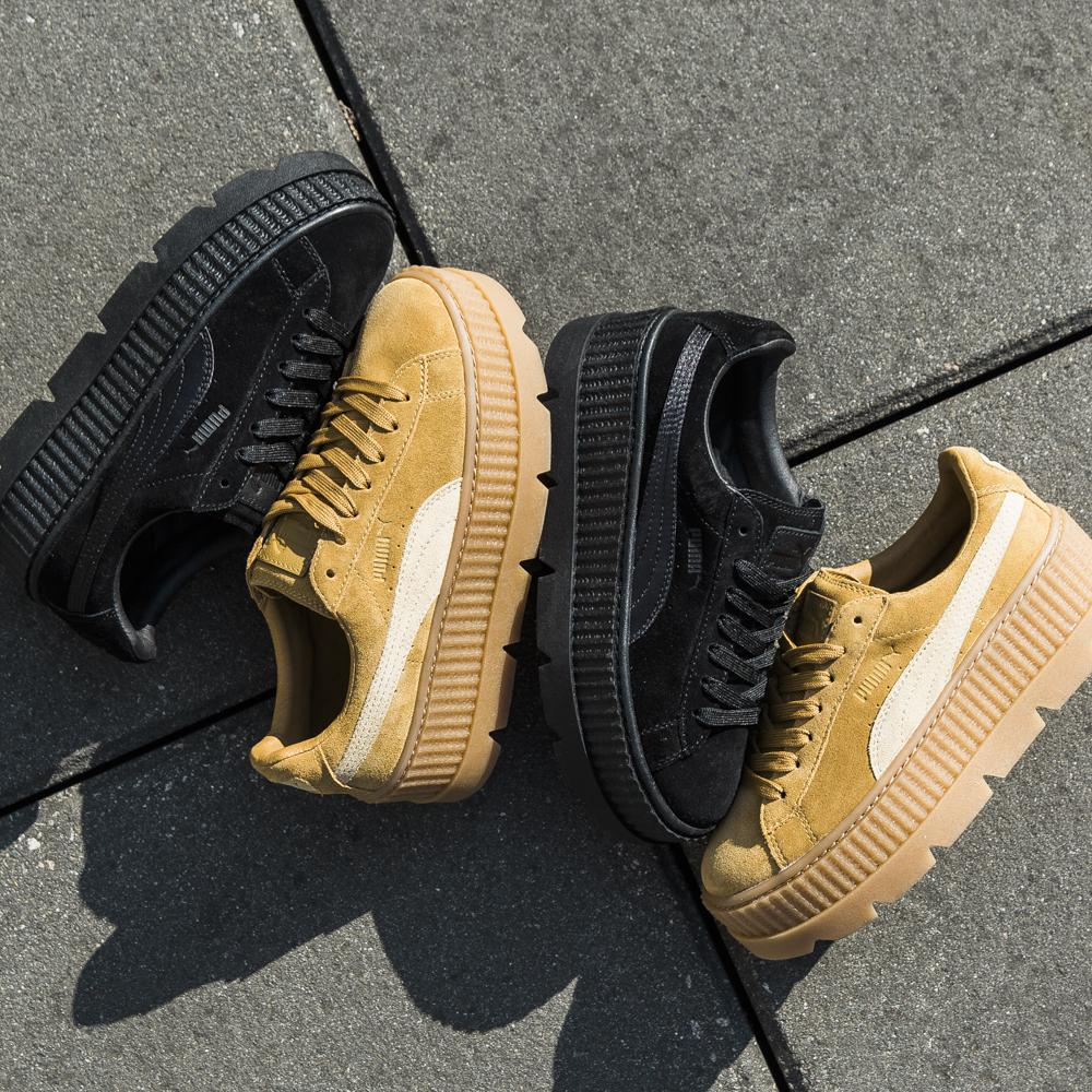 PUMA FENTY CLEATED SUEDE CREEPER / BLACK