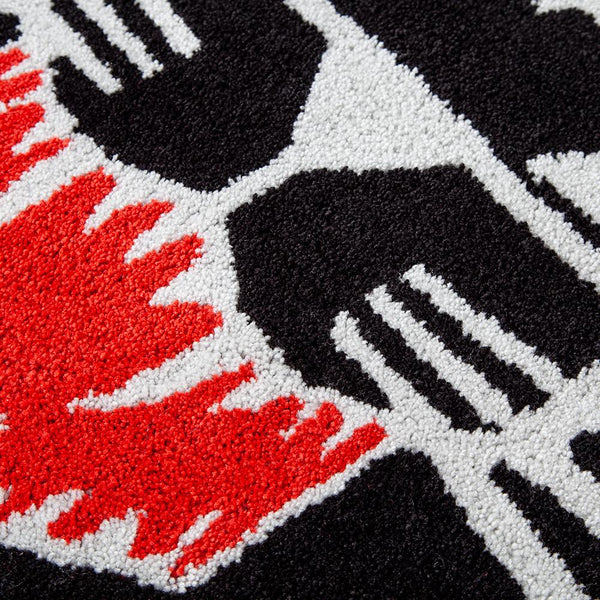 Style code PWRS410. Powers x Gallery 1950 Panther Rug / Black