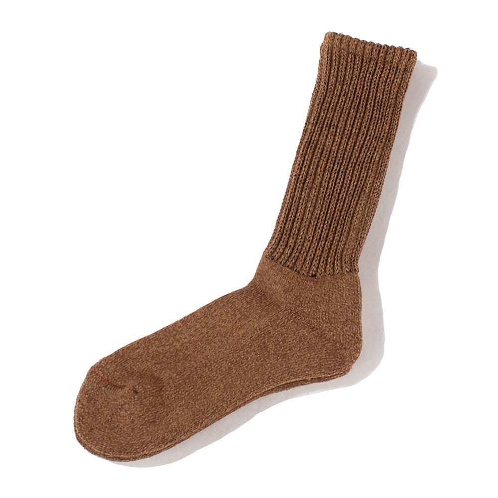 RoToTo Loose Pile Socks / Mix Brown - Deadstock.ca