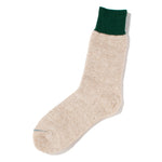 RoToTo Double Face Socks Silk & Cotton / Green - Deadstock.ca