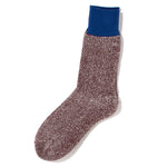 RoToTo Double Face Socks Silk & Cotton / Blue - Deadstock.ca