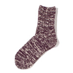 RoToTo Low Gauge Slub Socks / Burgundy - Deadstock.ca