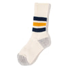 RoToTo Coarse Ribbed Old School Socks / Navy - Deadstock.ca