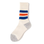 RoToTo Coarse Ribbed Old School Socks / Blue - Deadstock.ca