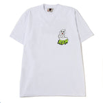 Real Bad Man FU Ghost T-shirt / White
