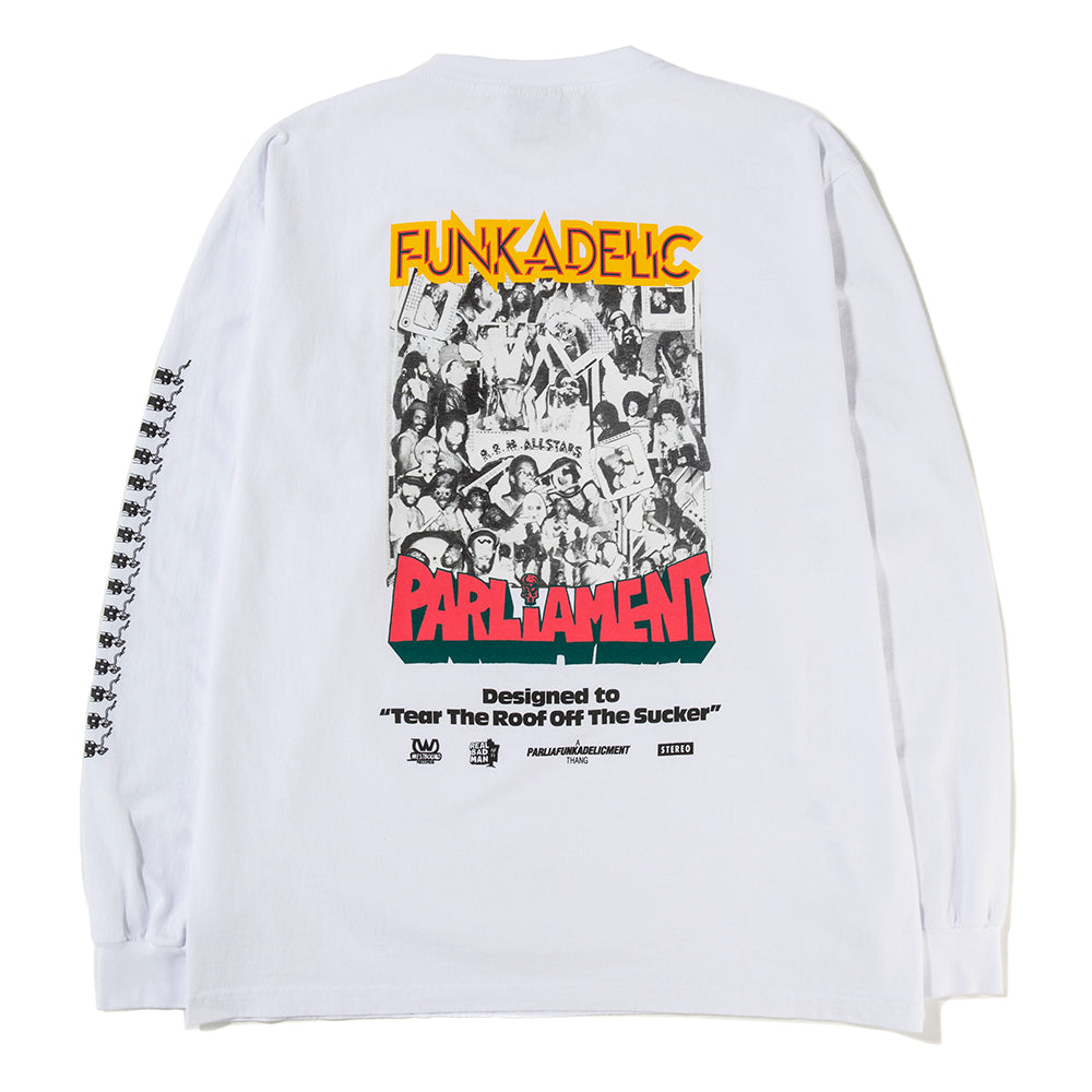 Real Bad Man Uncle Jam Tribute Long Sleeve T-shirt / White