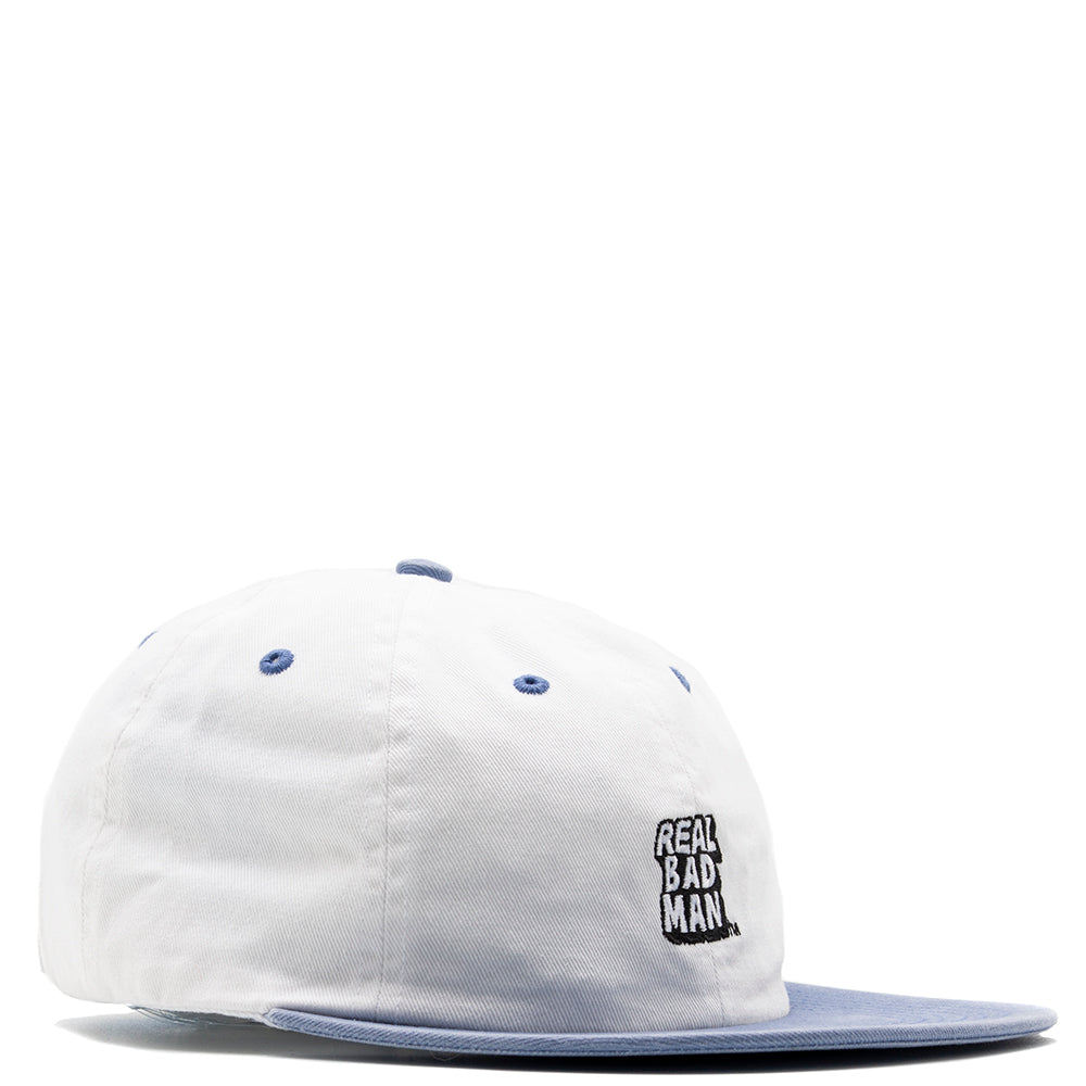 Real Bad Man RBM Washed Out 6 Panel Hat / Polar Ice Cap