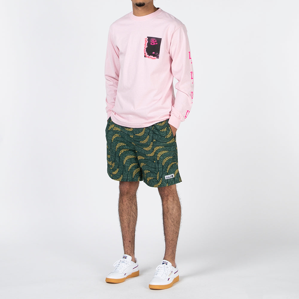 Real Bad Man Conflict Long Sleeve T-shirt / Pink
