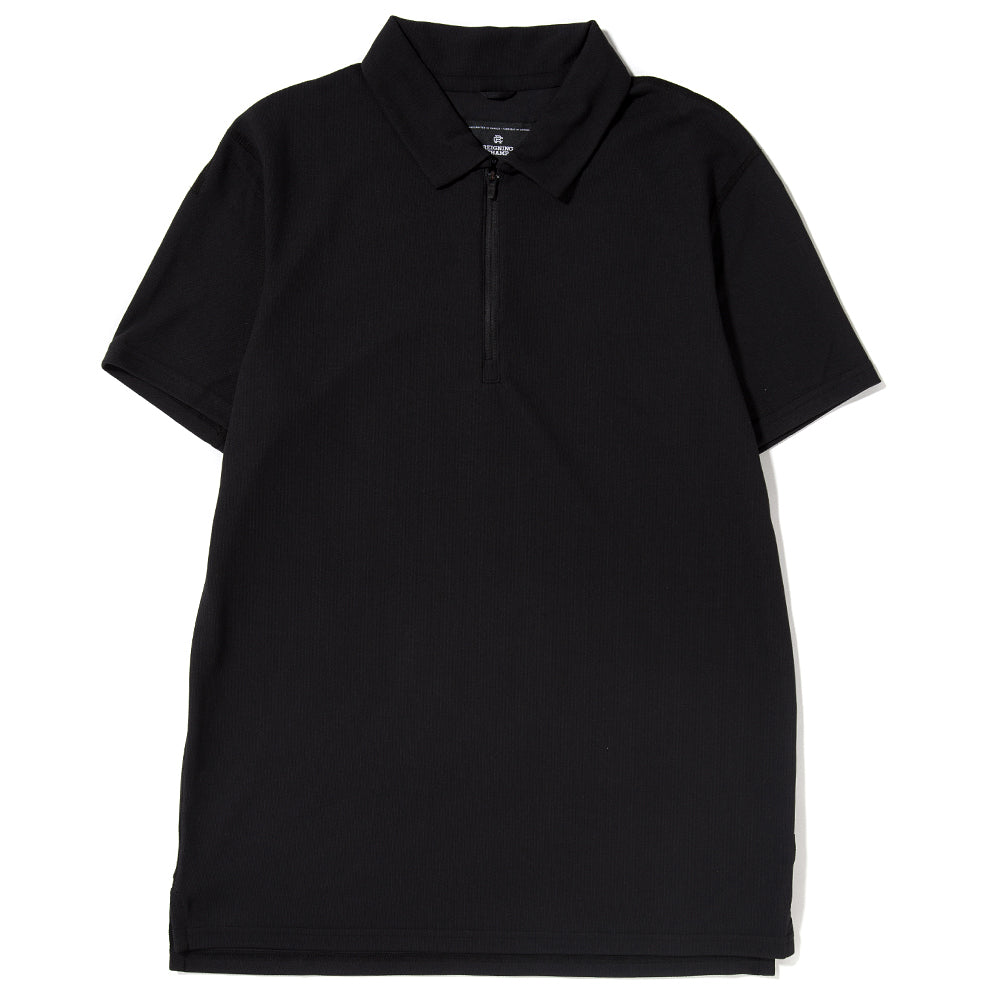 Style code RC1102S18. REIGNING CHAMP POLO COOLMAX PIQUE / BLACK