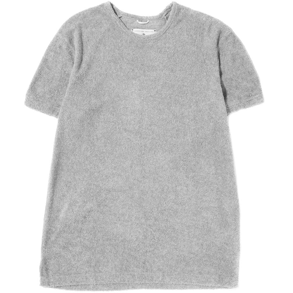 Style code RC1111S18. REIGNING CHAMP TOWEL TERRY SHORT SLEEVE CREWNECK / GREY