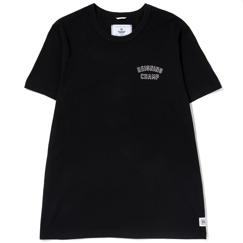 Style code RC1123S18BLK. REIGNING CHAMP VARSITY T-SHIRT / BLACK