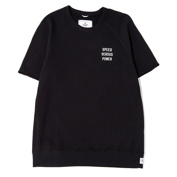 Style code RC3494FW18.  Reigning Champ Speed VS Power Cut Off Crewneck / Black