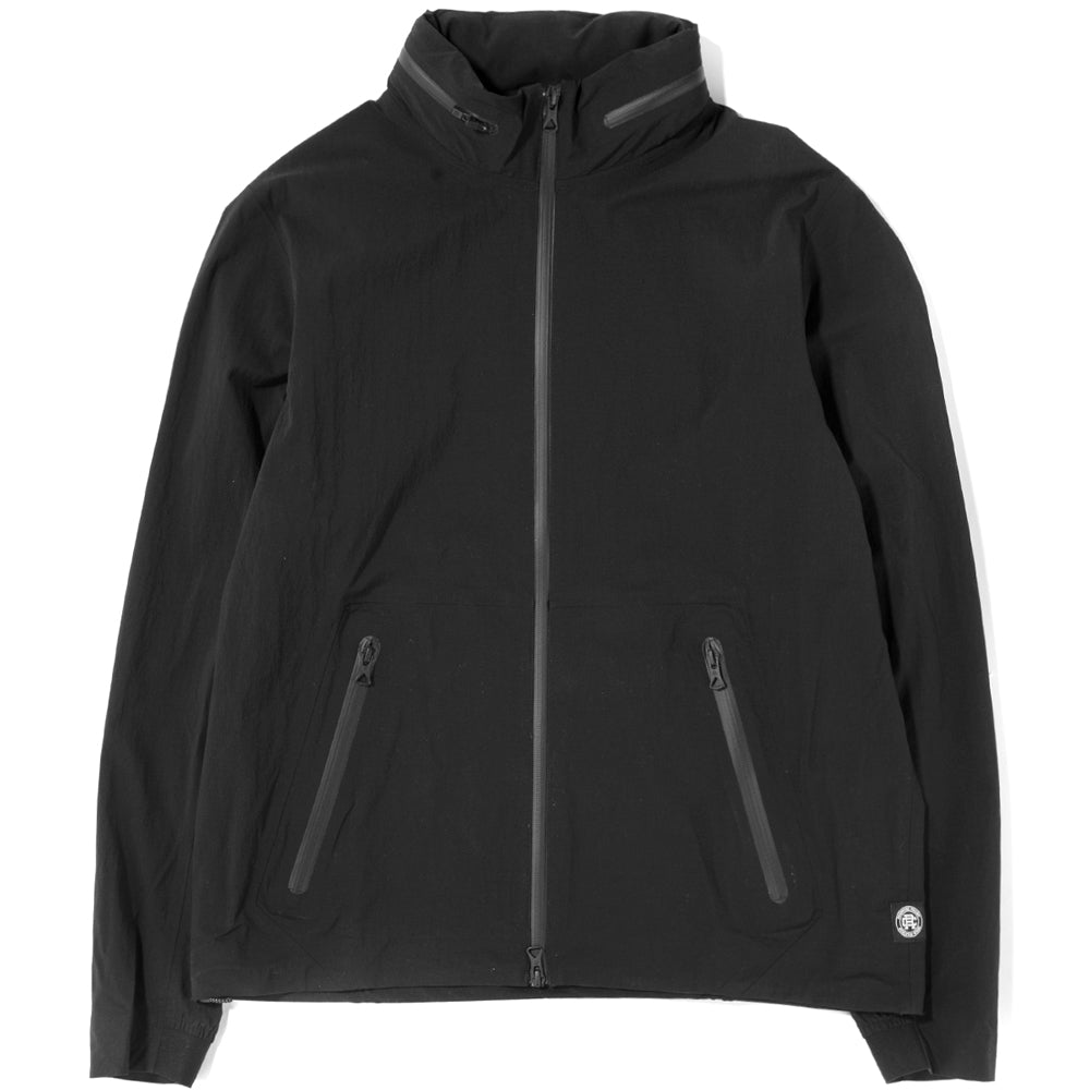 Style code RC4110FW18. Reigning Champ Stow Away Hood Jacket Stretch Nylon N279 / Black
