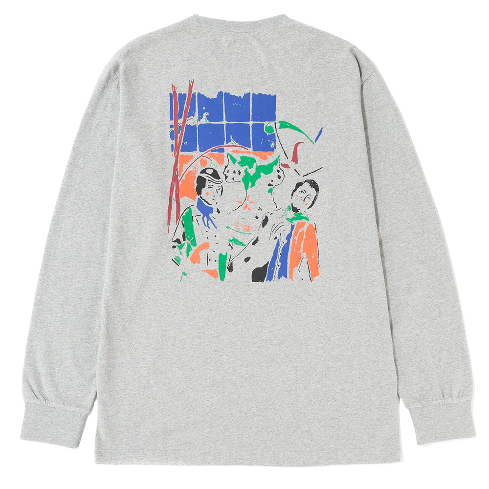 Reception S.C. Melkerij Peerdsbos Long Sleeve T-shirt / Heather Grey