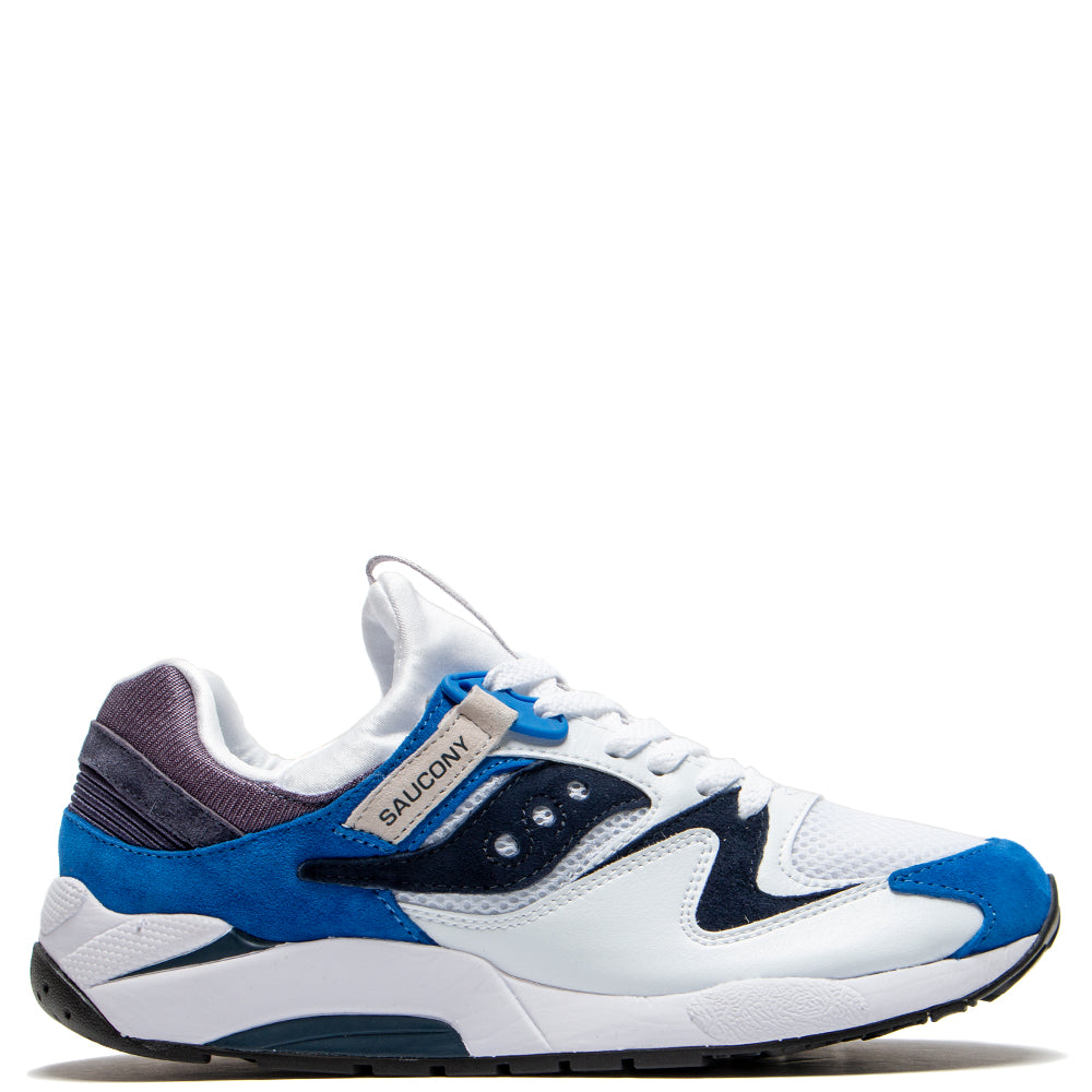 Saucony Grid 9000 White / Blue - Deadstock.ca