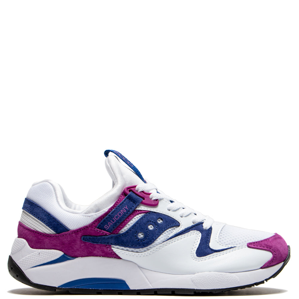 Saucony Grid 9000 White / Purple - Deadstock.ca
