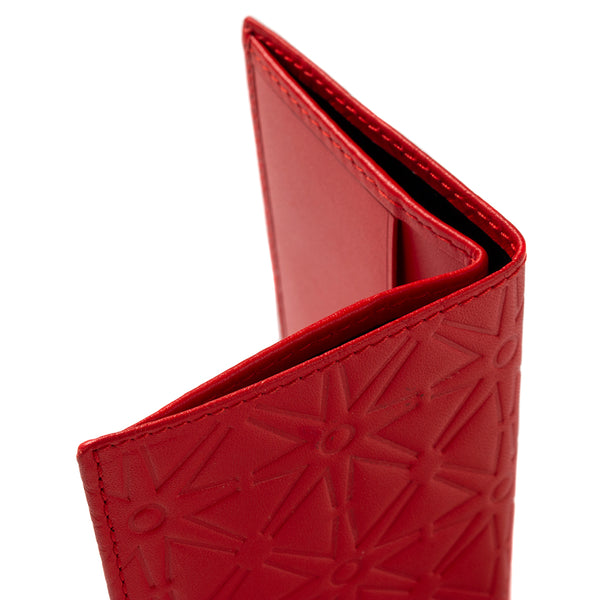 COMME des GARÇONS SA640E Embossed Leather Wallet / Orange
