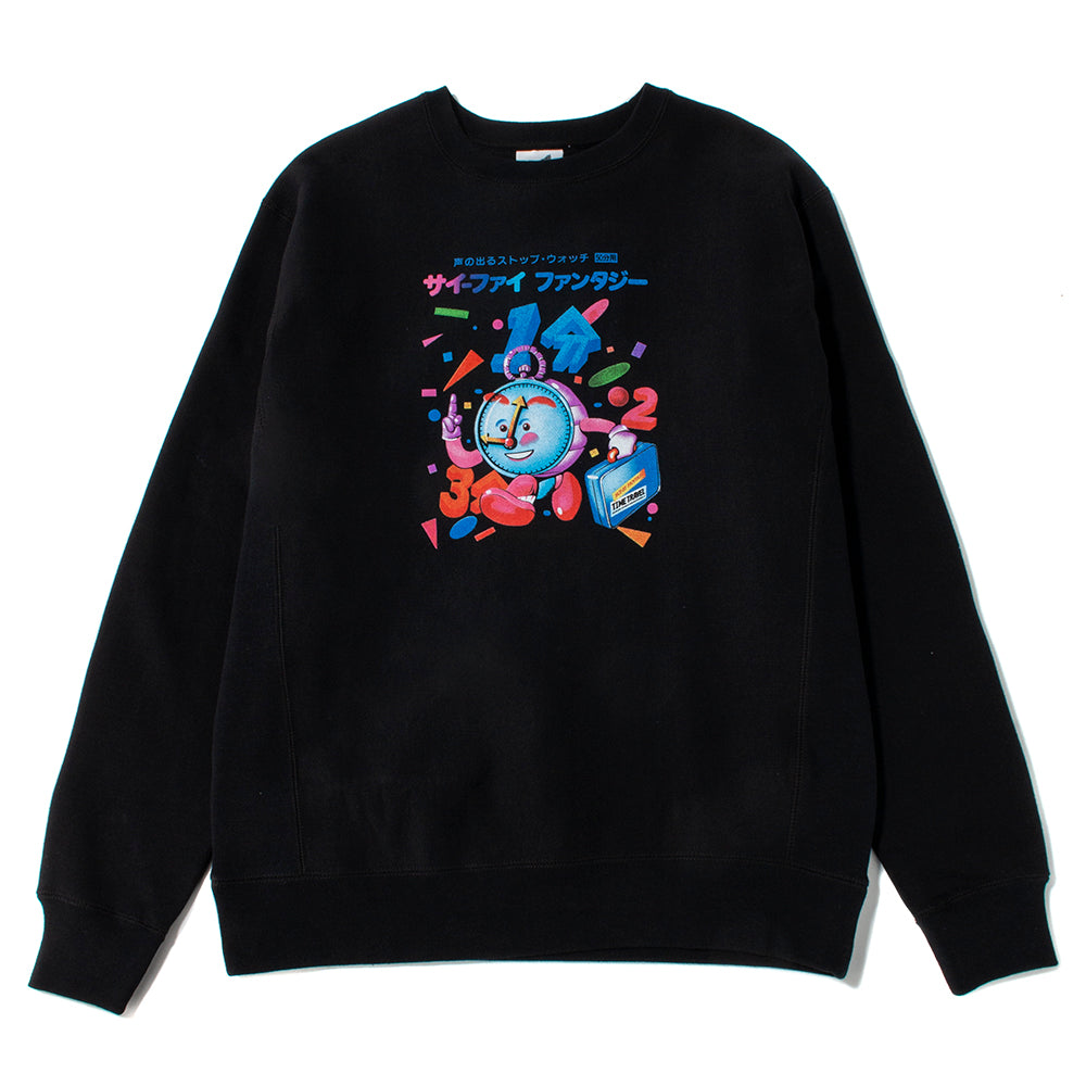 Sci-Fi Fantasy Time Travel Crewneck / Black
