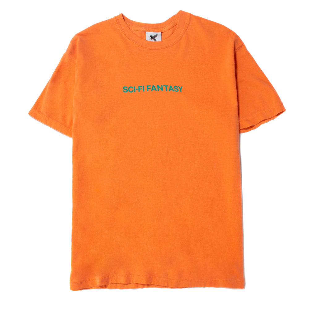 Sci-Fi Fantasy Helvetica T-shirt / Dark Orange