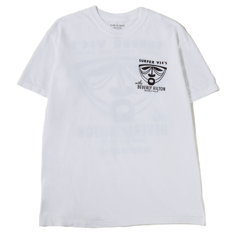 SD19P101 Surf is Dead Trader Vics T-shirt / White